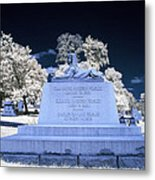 Sphinx Profile Near Infrared Blue And White Metal Print