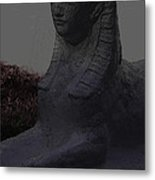 Sphinx Statue Three Quarter Profile Moonlight Usa Metal Print
