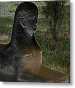 Sphinx Statue Three Quarter Profile Solar Usa Metal Print