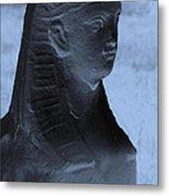 Sphinx Statue Torso Blue And Gray Usa Metal Print