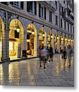 Spianada Square During Dusk Time Metal Print