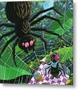 Spider Picnic Metal Print