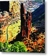 Spider Rock Canyon Dechelly  Metal Print