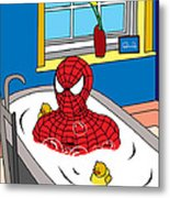 Spiderman  Metal Print by Mark Ashkenazi