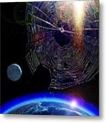 Spiders In Space - The Beginning Of The End Metal Print
