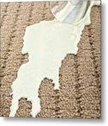 Spilled Milk On Carpet  Metal Print
