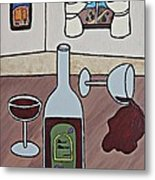 Essence Of Home - Spilt Wine Metal Print