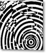 Spin Art Seahorse Maze  Metal Print