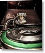 Spin That Record Metal Print by Darcy Michaelchuk
