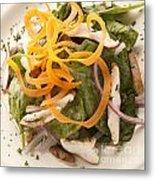 Spinach Salad Metal Print