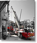 Spindle Extraction Bw Metal Print