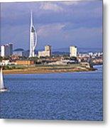 Spinnaker Tower And Gunwharf Quays Metal Print