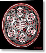 Spinning Celtic Skulls Metal Print