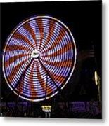 Spinning Ferris Wheel Metal Print
