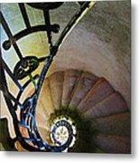 Spinning Stairway Metal Print