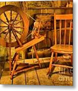 Spinning Wheel Metal Print