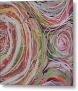Spiral Bouquet Metal Print