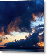 Spiral Clouds Metal Print