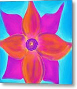Spiral Flower Metal Print by Daina White