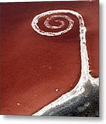 Spiral Jetty From The Air Metal Print