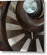 Spiral Railing And Puppy Metal Print