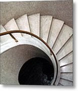 Spiral Stair - Denys Lasdun Metal Print by Peter Cassidy