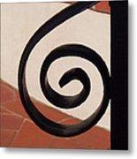 Spiral Stair Railing Metal Print