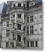 Spiral Staircase Chateau Blois  Metal Print
