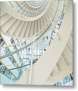 Spiral Staircase Inside Office Complex Metal Print