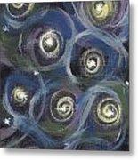 Spiral Stars Metal Print