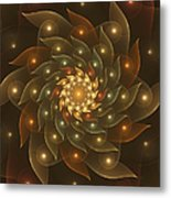 Spiral Wings Metal Print