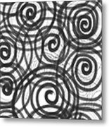 Spirals Of Love Metal Print by Daina White