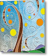 Spiralscape Metal Print by Shawna Rowe