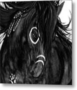 Spirit Feathers Horse Metal Print