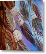 Spirit Feathers Metal Print