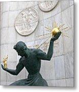 Spirit Of Detroit Monument Metal Print