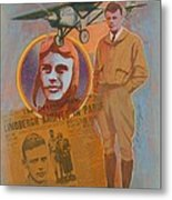 Lindbergh, Spirit Of St. Louis Metal Print