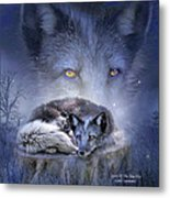 Spirit Of The Blue Fox Metal Print