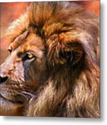 Spirit Of The Lion Metal Print