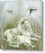 Spirit Of The White Lions Metal Print