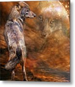 Spirit Of The Wolf Metal Print