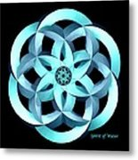 Spirit Of Water 1 - Blue Metal Print