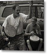 Charlottesville Bongo Player Metal Print