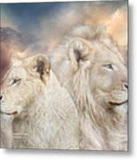 Spirits Of Light Metal Print by Carol Cavalaris