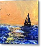 Spirits Rise As The Sails Fill Metal Print