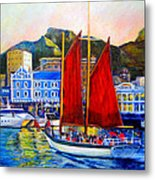 Spirit's Sunset Sail Metal Print