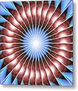 Spiritual Pulsar Kaleidoscope Metal Print by Derek Gedney