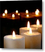Spiritual Reflection Candles Metal Print