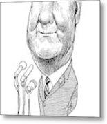 Spiro Agnew Caricature Metal Print