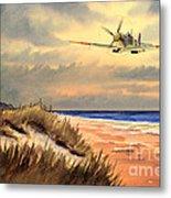 Spitfire Mk9 - Over South Coast England Metal Print